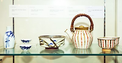 Ceramic wares on display